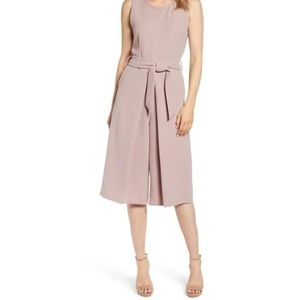 Bishop+Young Mauve Wide Leg Crop Belted Jumpsuit